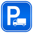 Lorry parking vector sign