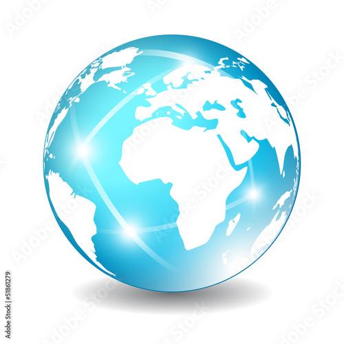 Vector glossy earth