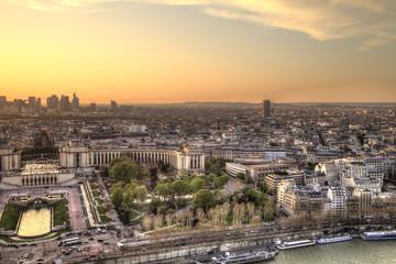 Paris Panorama at sunset