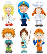 People professions clipart cartoon style vector illustration