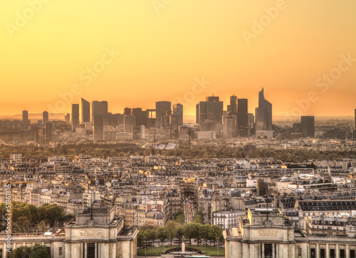 Paris Panorama at sunset, La Defense