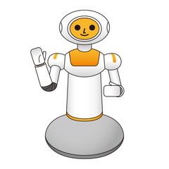 手を上げる介護ロボット