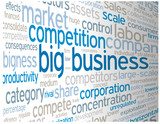 """BIG BUSINESS"" Tag Cloud (competition strategy finance success)"