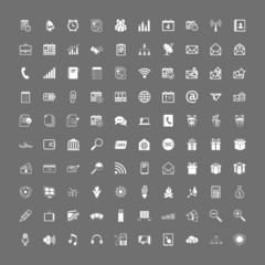100 universal web icons set