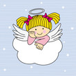 Angel Wings On A Cloud. Greeti...