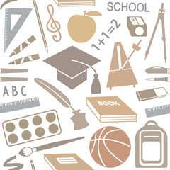 School related seamless pattern
