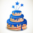 Vector Illustration of an Independence Day Cake