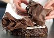 cioccolato su torta