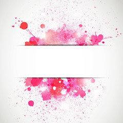 Vector Illustration of an Abstract Background with Blots
