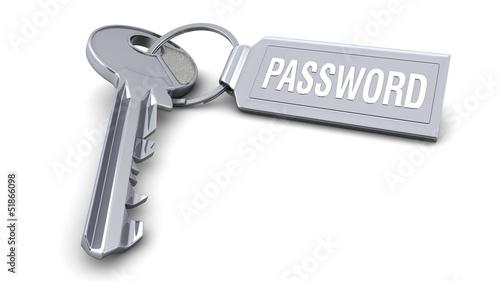 Schlüssel mit Anhänger - Password