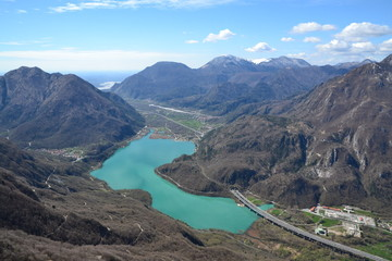 Lago di Cavazzo - Vista dal monte Festa