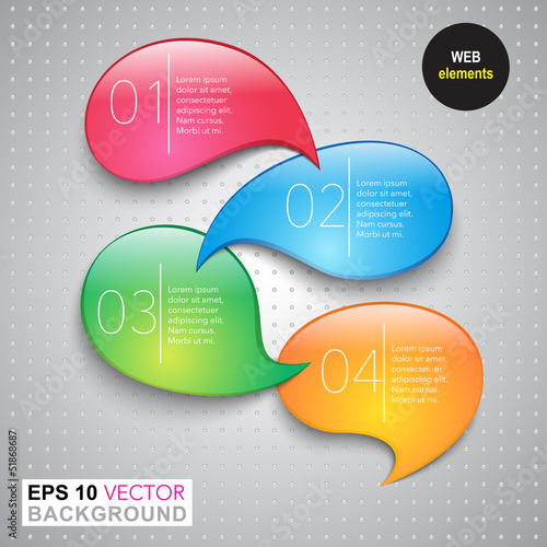 vector bubbles web design elements