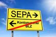 Schild mit SEPA