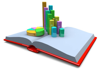 BOOK AND GRAPH - 3D