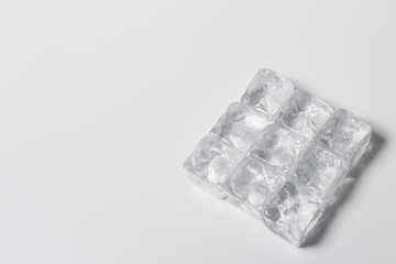 ice on the white background