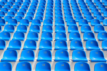 Seats in a stadium