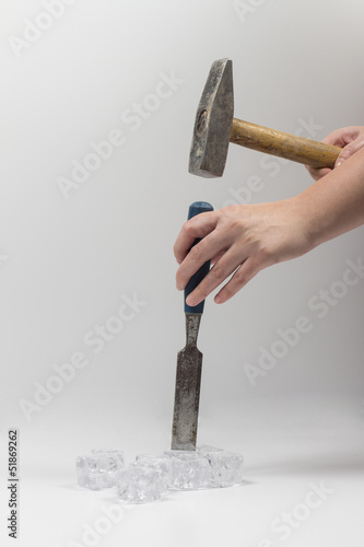 Tool on the white background