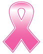 Breast cancer pink ribbon isolated on white