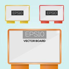 Vector illustration of billboards