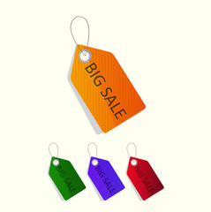 Sale tags. Vector