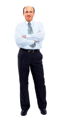 businessman full length isolated on white