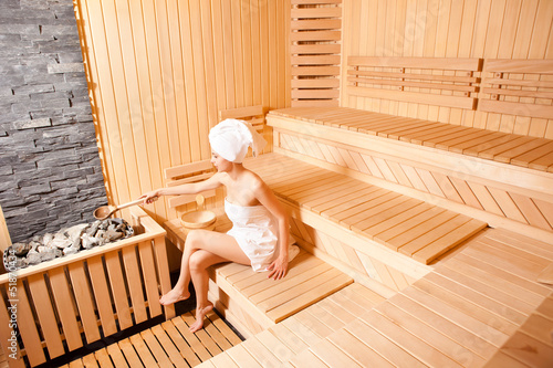 Beutiful Woman In Sauna