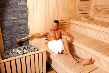 Enjoying In Sauna