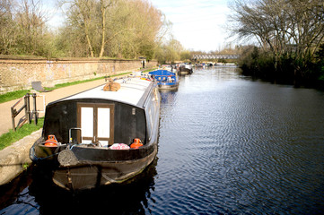 Houseboats on canal