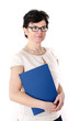 Office woman with folder