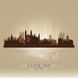 Cambridge England city skyline silhouette