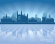 Cambridge England city skyline silhouette
