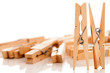 Closeup image of eco clothespins