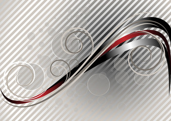 Red and silver wavy stripes