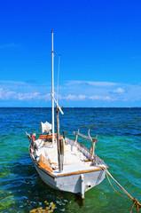 fishing boat moored in Formentera, Balearic Islands, Spain