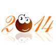 funny pumpkin 2014 vector illustration