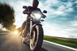 canvas print picture - Motorbike
