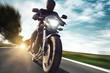Leinwanddruck Bild - Motorbike