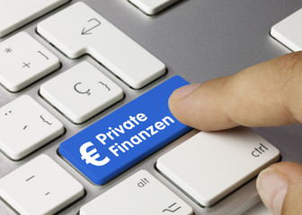 € Private Finanzen tastatur