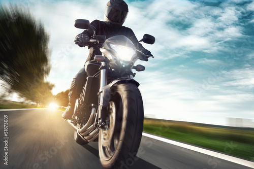 canvas print picture Motorbike