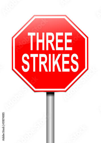 Three strikes concept.