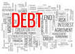"""DEBT"" Tag Cloud (money interest rate credit bank mortgage)"
