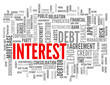 """INTEREST"" Tag Cloud (credit loan money finance bank debt rate)"