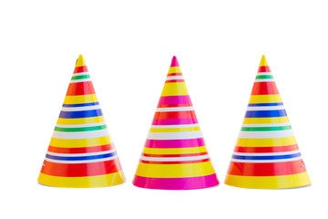 three hats for birthday party