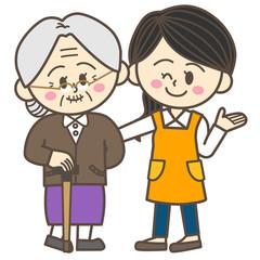 おばあちゃんとヘルパーさん