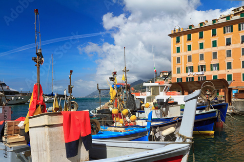 fishing boats in Camogli