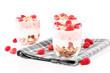 joghurt desserts mit himbeeren