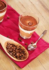 kaffee dessert von oben