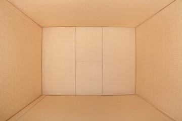 Cardboard box, inside view