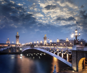 Paris France Pont Aexandre III