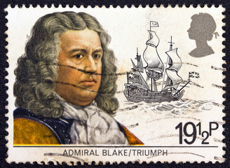 Admiral Robert Blake and his ship Triumph (United Kingdom 1982)